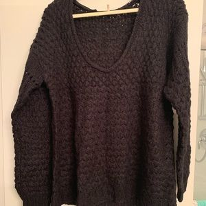 Free People Chasing Waves Oversized Sweater Large